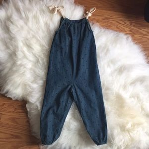 NWT Hanna Andersson Chambray Overalls